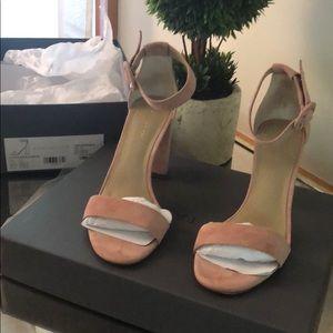 Anne Taylor pick suede block heels sandals